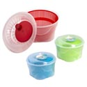 Salad Spinner Plastic 3ast Colr 9.25x7.28x6.3in/shrink W/label Green/red/turquoise