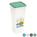 Food Storage Container Tall 5x5x11.25in W/lid 4ast Colors