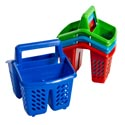 Cutlery Holder 6 X 5.5 X 6.5in In 48pc Pdq 4ast Colors Red/royal Blue/lime Grn/turquois
