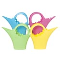 Watering Can Plastic W/handle 188g/75oz W/floral Embossed Detail 4ast Colors/upc Label