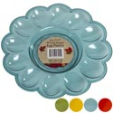 Egg Serving Plate 9in 12 Wells 4ast Fall Translucent Colors Harvest Easy Peel Label