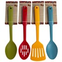 Kitchen Tool Nylon 3style/4 Fall Clrs Slot Spoon/turner & Basting Spoon 12in Fall Tcd