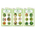 Buttons St.patrick 6pk 1.5in 3ast Packs St Pat/pb Insert