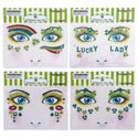 Face Art St Patricks 4ast Design 12pc Mdsgstrip/pb Insert Card