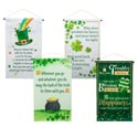 Banner Irish Blessings 12x20in 4ast Coated Nonwoven Stpat/ht
