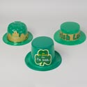 Hat St Pats Plastic 3ast Styles Bowler/skimmer/top Hat Upc Label