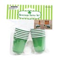 Cups Mini Green Game Pong Set 2 Balls/12 Cups 2fl/59ml 24pcpdq St Pat Pbh