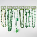 Necklace St Patrick Assortment 6ast Beads/shapes St P Barbell