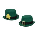 Hat St.patricks Felt Tophat 2ast Buckle Or Clover 11in/w/ht