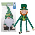 Hanging Decor St Pat Jntd Figure 48in Honeycomb Limbs 2ast/pbh Gnome & Leprechaun