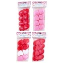 Heart Container 8pk Plastic 1.75in Red/pink/print/multi Valentine Pbh