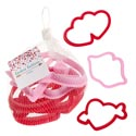 Cookie Cutter Valentine Shapes Plastic 6pc 12pc Merchstrip Mesh Bag Valentine Hangtag
