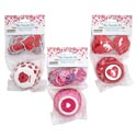 Baking Cup Kit Valentine 3ast 24-2in Cups+24 Plastic Picks On 12pc Mdsgstrip Val Pbh