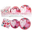 Paper Party Tableware Valentine 8pk-7/9in Plates-16pk Napkins 48pc Pdq Label