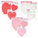 Doilies Heart Shape 30/24/16pk Red/pink/white 9ast Pb/insert 6in/8in/10in