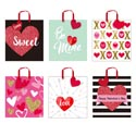 Gift Bag Love/glitter/hot Stamp 48pc Pdq 9.625 X 10.375 X 4.125 6ast Designs