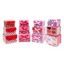 Valentine Paper Gift Box S/m/l W/hook&loop Close 3asst Designs Seperate Upc Labels