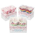 Baking Cups Fluted Mini Valentn 48ct/3ast Design 1.25in Valentine Pvc Box W/insert Card
