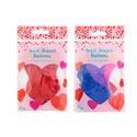Balloons Heart Shape 10ct Latex 2ast Solid Red/multi On Mdsgstrp Pbsleeve/color Bag