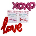 Balloon Foil Xoxo/love Script 4ast Color Ea Style/val Pb Insrt Pink/purple/red/rosegold