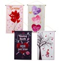 Banner Valentine 4ast 12x20in Coated Nonwoven Val/ht
