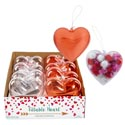 Clear Fillable Heart Container 2ast 4pc Ea Clear Or Red/8pc Pdq Heart 3.8in/9.65cm W/val Ht