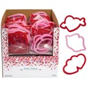 Cookie Cutter Valentine 6pc Plastic In 20pc Pdq Meshbag/ht