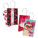 Gift Bag Paper Valentine 2pk 8.25x 5.25 X 3.25g Small 2asst Valentine Barbell Wrap