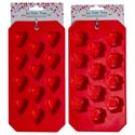 Ice Cube Tray Valentine 2ast 4.5x8.75in Red Heart/flower Plastic Val Header Card