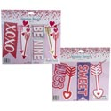 Banner Valentine 5ft 2asst W/glitter & Hotstamp Icons Val Polybag W/insert