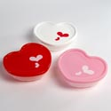 Food Storage Container Heart Shape 3asst Colors 7x6x2 Approx 62g 16.9 Oz/upc Label