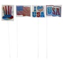 Yard Sign Patriotic Holographic Approx 28in 4ast W/display Pblbl