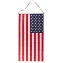 Flag Banner On Dowel W/hanging Ribbon 16.25 X 30.875in
