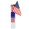Flag American 12x18 On 32 Inch Wooden Pole In 48pc Pdq