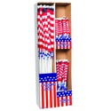 Flag American Displayer 1/3/5pk In 96pc Power Panel Plastic W/patriotic Label