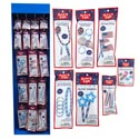 Glow Stick 102pc Patriotic Disp 7asst Styles In Power Panel Ea In Foil Bag