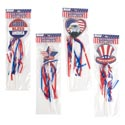 Patriotic Foam Wand/pick 3pk 14in 4ast W/ribbon Streamer For Parades/decor Patrtic Pbh