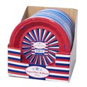 Paper Plate Holder 3pk/36pc Pdq Red/white/blue Per Set W/shrink