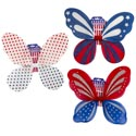 Wings Glitter Fairy Patriotic 3ast Designs 16.9 X 14.57in Patriotic Printed Backer Card