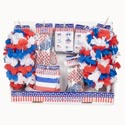 Patriotic Wearable 48pc Shipper Glasses/buttons/lei/bracelets