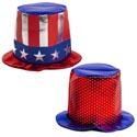 Hat Patriotic Large Metallic Shine 2ast 8.25in Ht/jhook Adult Use
