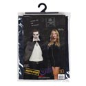Cape Adult Costume Blk 56in W/puffed Collar Satiny Poly Pvc Bag/insert Card/plst Hanger