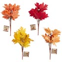 Fall Leaves 7-stem Bouquet 4ast Colors Harvest/ht