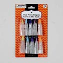 Witch Fingers 10pk Gid W/color Nail Tips/costume Or Party Favor Hal Blister Card