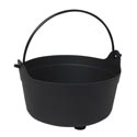 Cauldron Candy Bowl ** **black 9.5x6in Upc Label