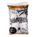 Spider Webbing 2oz White W/4 Spiders In 60pc Case Cut Display Halloween Printed Pb