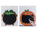 Blackboard Sticker Halloween Wall Decor 2ast 12x12 Pbh/insert Pumpkin/cauldron-chalk Not Incld
