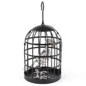 Skeleton Crow In Birdcage Hanging/table Decor Hlwn Ht 6.5in W X 9in H
