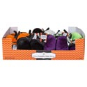 Pumpkin Velvet Table Decor 4.5in 5ast Colors In 18pc Pdq Orange/black/cream/purple/lime