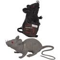 Rat Black W/squeaker 2ast ** **sit/stand Ea W/hlwn Hangtag